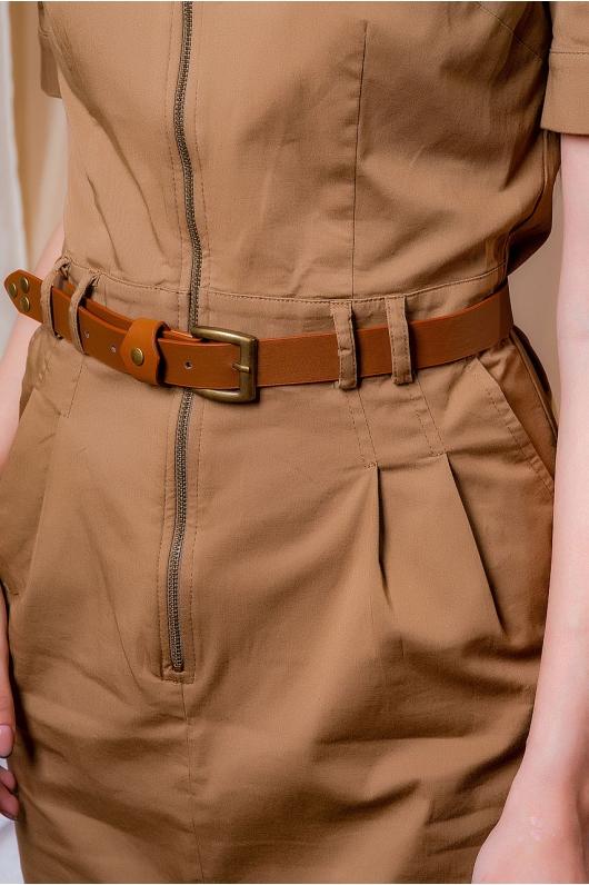 Платье сафари из натуральной ткани