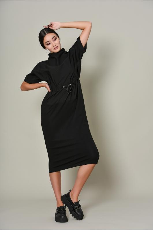 Платье в длине миди на кулиске