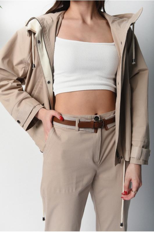 Укороченные брюки из катона