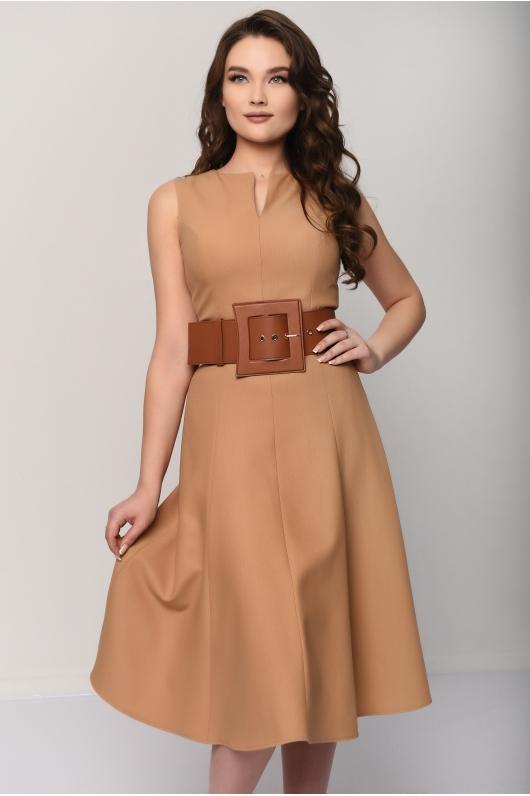 Платье -миди с широким поясом