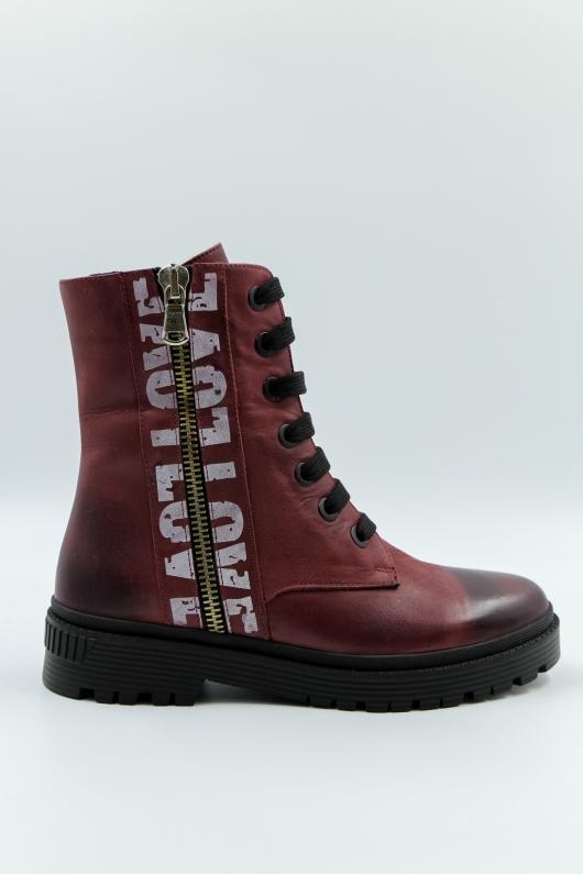 Ботинки с буквенным принтом