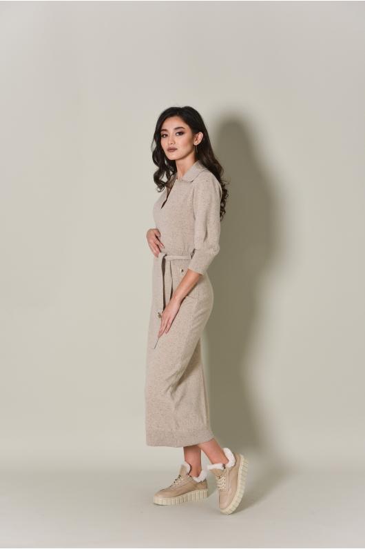 Платье из мягкого трикотажа,  удлиненное