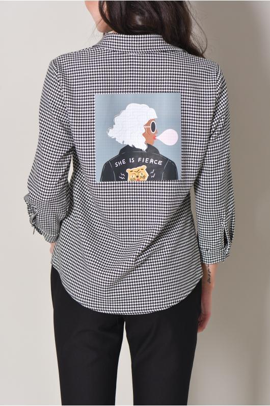 Рубашка спринтом  ''гусиная лапка''