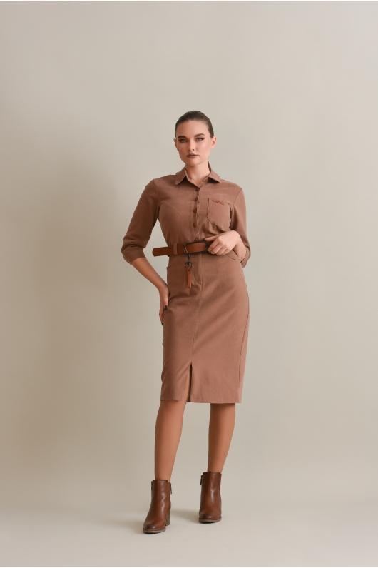 Платье-футляр на поясе