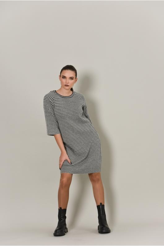 Платье трикотажное серого цвета