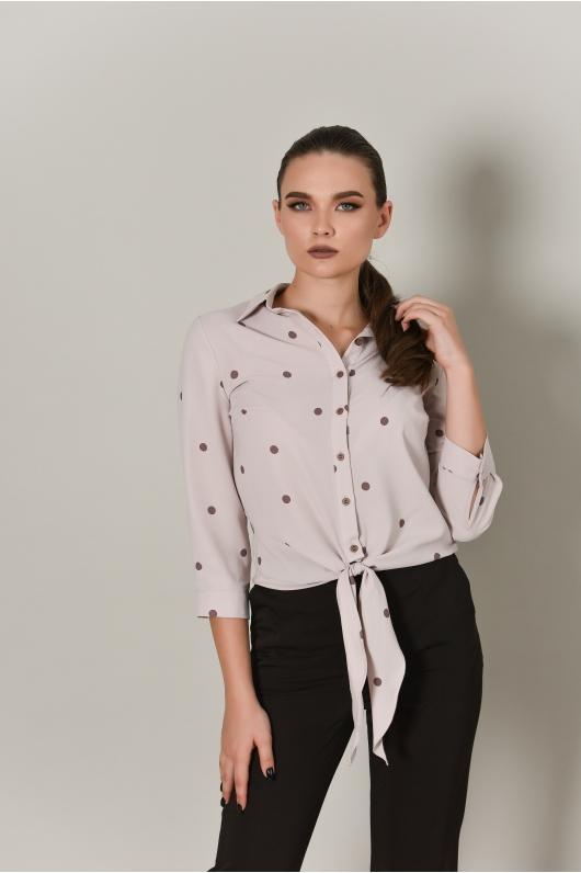 Блуза из струящейся ткани с узлом