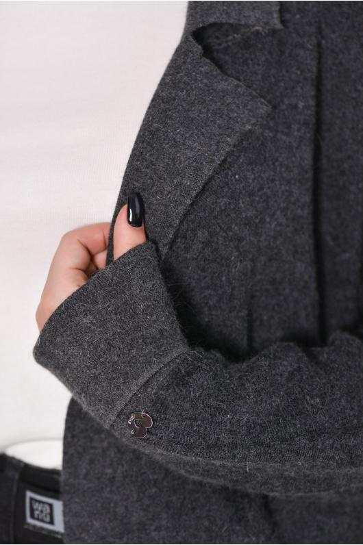 Кардиган из плотной ткани,  удлиненный